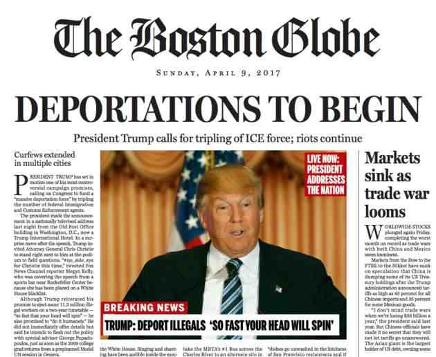 Trump fake page