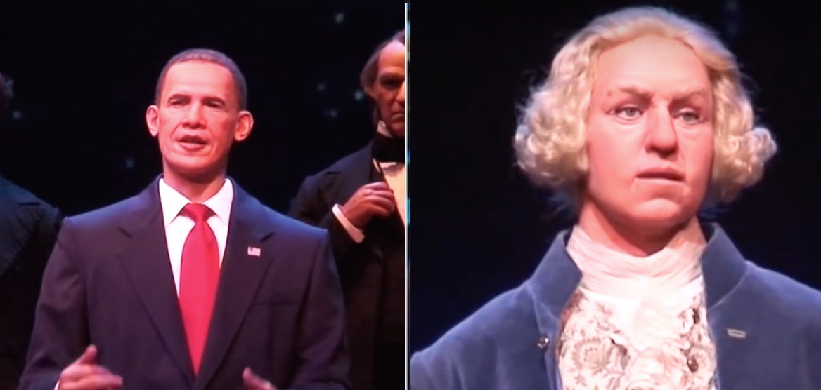 Animatronic Obama and Washington