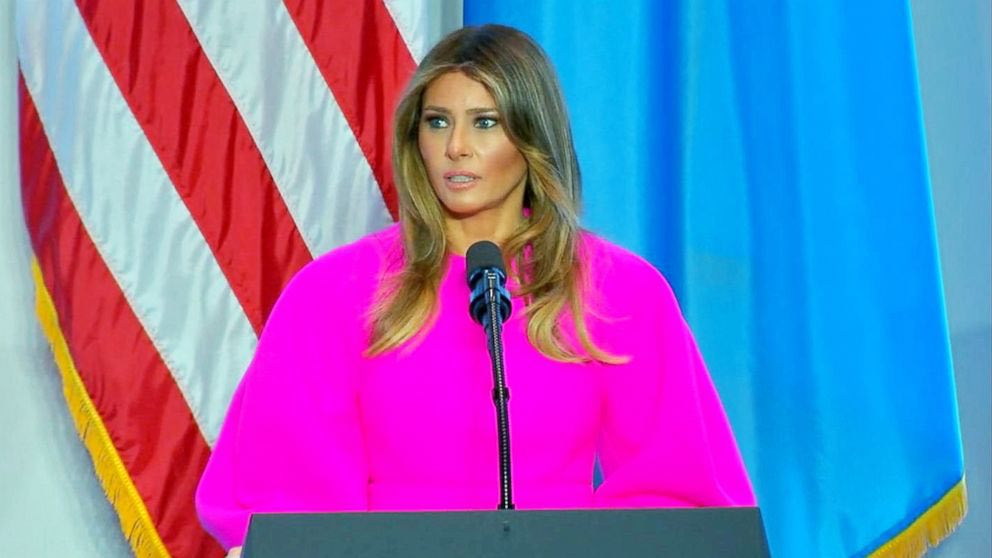 Melania Trump in Shocking Pink