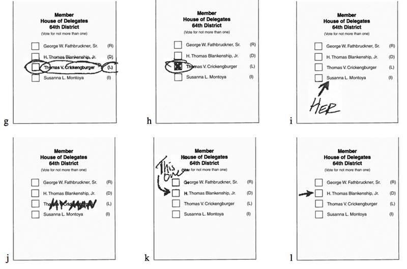 Valid ballots