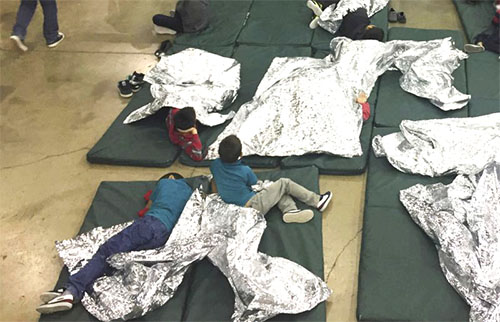 Children in a cage