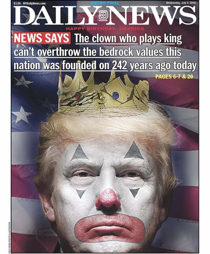 Trump as clown