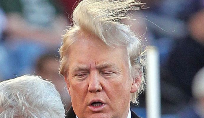 Trump hair goes wild