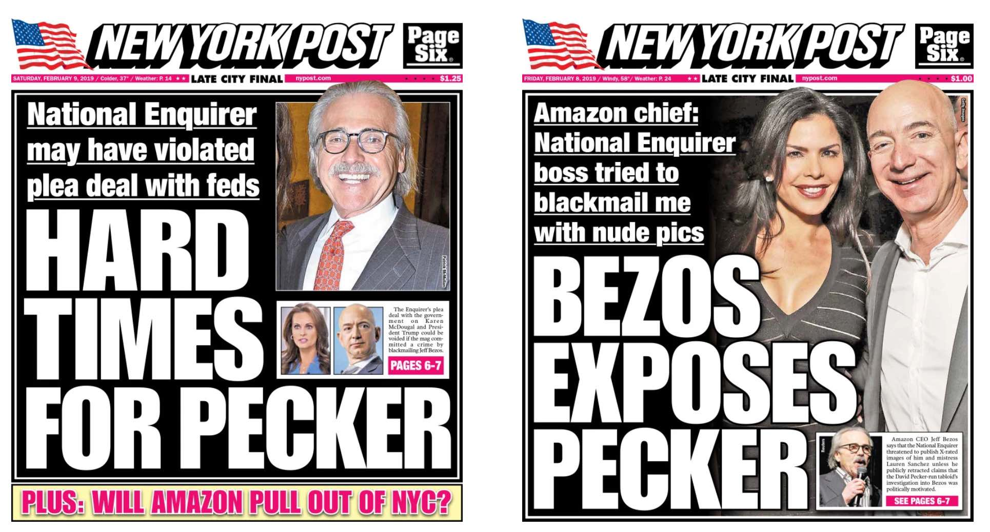 Bezos Exposes Pecker