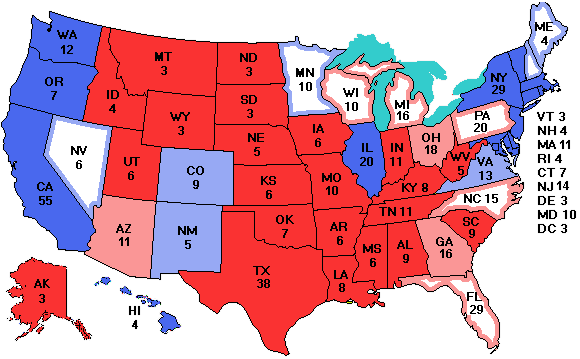 Map Of Us Electoral College.Electoralvote